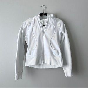 Lululemon Scuba Hoodie Jacket White Size 8